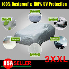 CAR COVER 100% Waterproof Breathable UV Snow Ice Rain Resistant Protection 3XXL