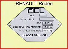 Plaque Constructeur Rodéo