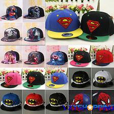 Kids Boys Girl Superhero Snapback Baseball Cap Summer Hip Hop Adjustable  Sun Hat d03a9ee34421