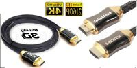 Premium  3 Meter V2.0 HDMI Cable Gold High Speed HDTV Ultra HD 2160p 4K 3D