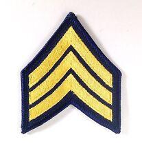 "Chevron Patches US Army Sergeant E-5 Gold Black 3 Stripe Rank Uniform 2"" LOTS"