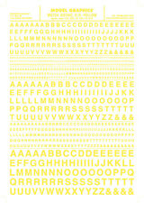 Woodland Scenics [WOO] Dry Transfer Gothic Letters Yellow MG724 WOOMG724