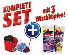Vileda Bodenwischer mit Putzeimer 3 Wischköpfen Komplettset SuperMocio 3 Action