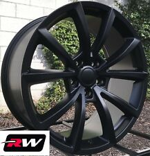 "(4) 20x9"" inch RW Wheels for Jeep Grand Cherokee Satin Black SRT Rims 5x127 +34"