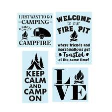 Reusable Sign Stencil, Camping Fire Pit Bundle, Painting Stencil, 14 Mil