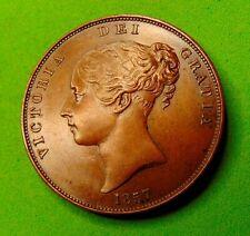 More details for cameo  portrait  victoria  unc  *1857*  penny  1d ...lucido_8  coins