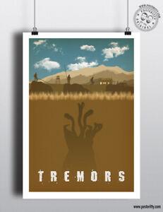TREMORS - Minimal Movie Poster Posteritty Minimal Print Graboid Bacon Perfection