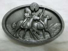 Vintage Buckles of America Masterpiece Collection Belt Buckle Indian Chief Horse