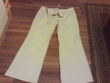 """New  ' Essential Style' Size 14S Cream Cotton Trousers Inside Leg Length 29"""""""
