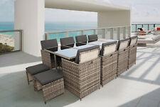 AREBOS Polyrattan Set Gartenmöbel Essgruppe Sitzgruppe Gartenset Lounge
