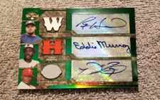 2008 Topps Triple Threads Auto /18 Eddie Murray, Prince Filder, Ryan Howard