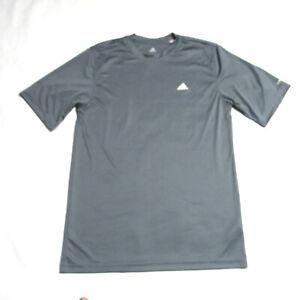 Adidas Climalite Gray Short Sleeve Shirt Mens Medium