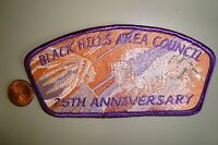 OA BLACK HILLS AREA COUNCIL SHOULDER PATCH CSP 25TH ANN BUFFALO SMY FLAP