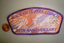 OA BLACK HILLS AREA COUNCIL SHOULDER PATCH CSP 25TH ANN BUFFALO SMY FLAP