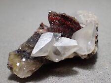 Calcite & Hematite on Fluorite, Moscona Mine, Solis, Asturias, Spain