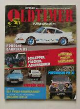 OLDTIMER Magazin 12/1992 - Porsche Carrera RS und mehr.......