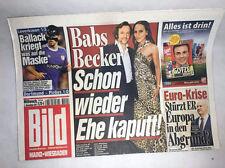 Bildzeitung vom 02.11.2011 zur Geburt * Barbara Becker * Euro Krise * Ballack