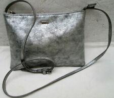 -Authentique sac bandoulière PARFOIS en toile argentée  vintage bag