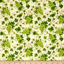 Fresh Harvest Grape Cotton Fabric Fabri-Quilt  By the Yard  BFab