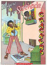 ORIGINAL LABEL VINTAGE FIRECRACKERS 1930S BLACK AMERICANA BANJO DOG SERENADE