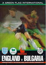 * ENGLAND v BULGARIA 1996 (VERY RARE) *