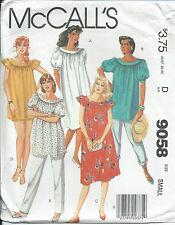 M 9058 sewing pattern DRESS TOP PANTS SHORTS sew Small 10-12 Muu-Muu Maternity