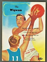 1957-58 PHILADELPHIA WARRIORS - CINCINNATI ROYALS Program