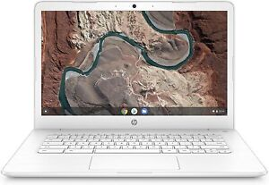 "HP CHROMEBOOK 14"" FHD A4-9120 4 32GB eMMC SNOW WHITE 14-db0050nr _ NEW"