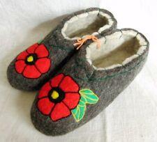 Russian Valenki Slippers Handmade 100% Wool Healthy Felt Shoes Footwear * UK 5