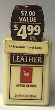 English Leather After Shave Unbreakable Travel Bottle 3.4 oz pl read description