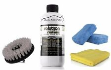 Solution Finish Black Plastic & bumper Restorer 12 oz w drill brush towel & pads