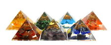 REIKI ENERGY CHARGED COMPLETE ORGONE PYRAMID CRYSTAL CHAKRA SET OF 7 HEALING