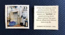 Jerry Seinfeld Show, Cramer, George, Elaine  Genuine US Postage Stamp!
