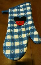 Mickey Mouse, Oven Mitt Kitchen Decorations, Blue & White Checkered Your Choice
