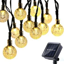 Solar Powered 30LED Outdoor String Bulb Rope Fairy Lights Garden Patio Yard lamp