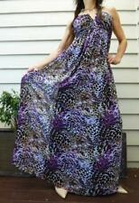 WAYNE by Wayne Cooper MAXI long DRESS 8 purple leopard NEW BUY 3+ITEM= FREE POST