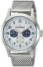 Men's Classic Stainless Steel Mesh Multi Function Analog Display By Peugeot