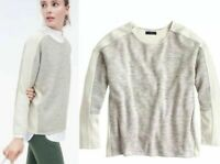 J. Crew Gray Colorblock Jaspè Wool Sweater Top Small