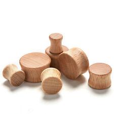 Fashion Ear Gauges-Ear Flesh Tunnels Plugs Solid Natural wood Piercing BDAU