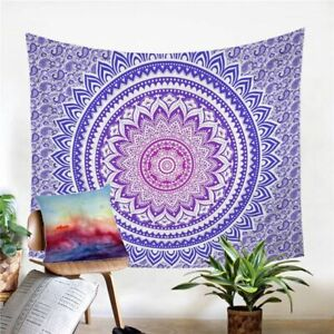 Mandala Hippie Floral Wall Tapestry Hanging Throw Cover Home Room Decoration