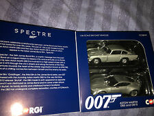 James Bond,  SPECTRE  Aston Martin DB5 and DB10   corgi car model set