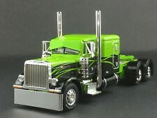 "1/64 DCP LIME GREEN/BLACK PETERBILT 379 63"" FLATTP SLEEPER"