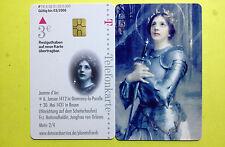 A08/2003 Telefonkarte Auflage 6000 Stück Jeanne d`Arc , Serie Berühmte Frauen