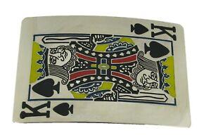 King of Spades Belt buckle Playing cards Casino Las Vegas Gambling Gambler New