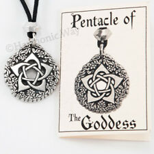 Pentacle Of The Goddess Necklace Pendant Wiccan Pagan Pentagram Jewelry