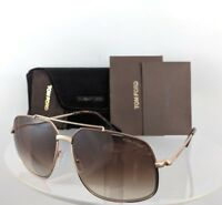 Brand New Authentic Tom Ford Sunglasses FT TF 439 48F TF 0439 RONNIE Gold Brown