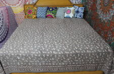 Hand Block Printed Bed Sheet, Bed Spread, Bed Cover, Indian Bedding,Bed Cover