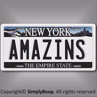New York Mets Amazins Aluminum License Plate Tag Baseball  MLB 1