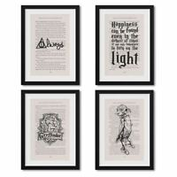 Framed Harry Potter Book Page Prints Artwork On Book Page From Philosopher Stone