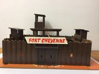 Rare Vintage Wooden Fort Cheyenne By Tiger Toys 1950's-1960's